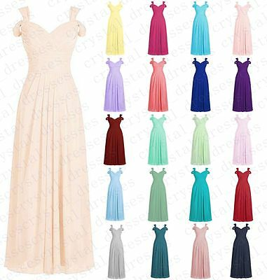 Off Shoulder Formal Long Bridesmaid Ball Gowns Party Cocktail Evening Prom Dress