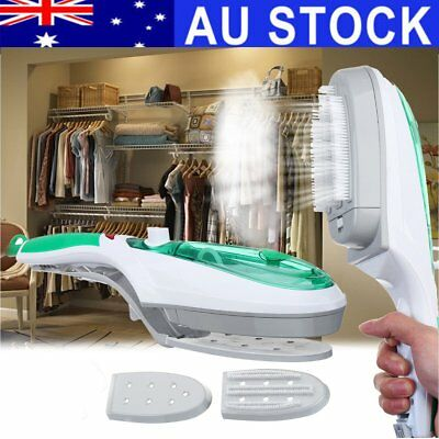 AU 1000W Portable Travel Mini Handheld Electric Iron Garment Steam Steamer Brush