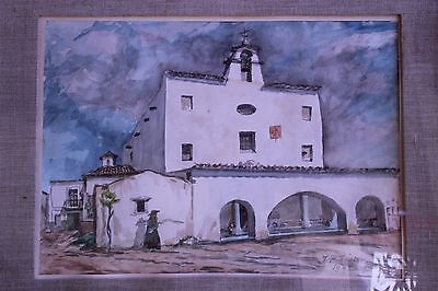 Acuarela Ermita Ibicenca. J.B. Renter Watercolor