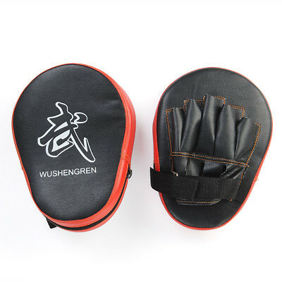 2X Boxing Pretect Knees Mitt MMA Hook Focus Punch Pad Training Glove Karate