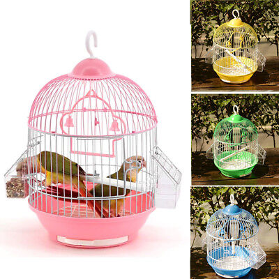 Hot Small Pet Birdcage Luxury Round Hanging Avairy Parrot Cage With Stand Swing