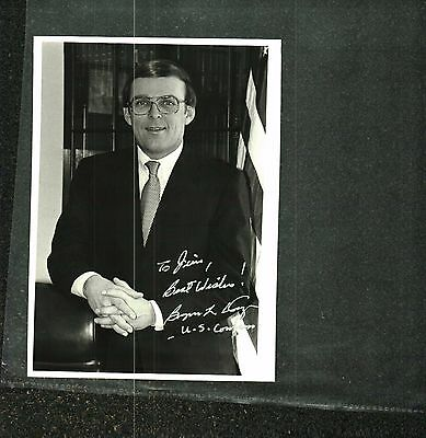 Byron Dorgan Signed Congressional Photo