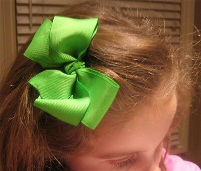 Girls Hair Bows Boutique Hairbows Baby Headbands set of 5 Basic 5 inch Classic