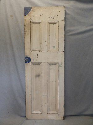 Antique Country Cupboard Door Cabinet Pantry Kitchen Vtg Chic Old 55x19 306-17P