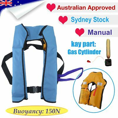 Adult Manual Inflatable Life Jacket Yoke Buoyancy 150N PFD Survival Vest DX