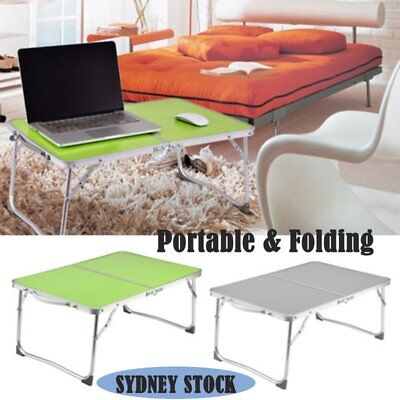 Portable Folding Picnic Camping Desk Laptop Table Bed Dinner Computer Lazy Tray#