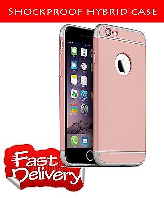 Luxury Shockproof Hard Back Case Cover for iPhone 6/6S Rose Gold3