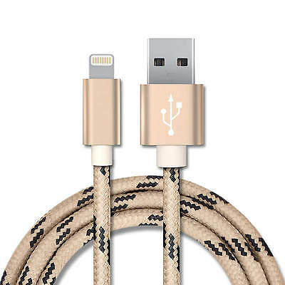 STRONG BRAIDED USB DATA CHARGER CABLE LEAD for iPhone 7 6 5 5S 5C iPad Plus (G40