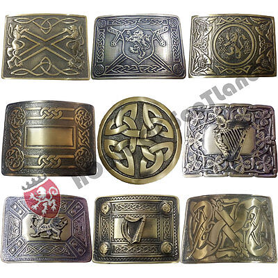Men's Scottish Kilt Belt Buckle Various Design Antique Finish/Celtic Knot Buckle