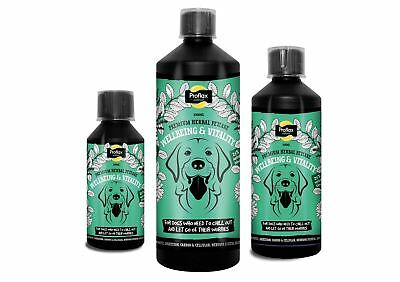 Proflax 100% Natural Premium Herbal Omega 3 Dog Formula for Wellbeing & Vitality