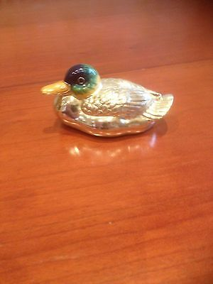 Saturno: A Superb Very Large Solid Silver and Enamel Swimming Duck