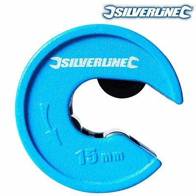 SILVERLINE PIPE CUTTER 15mm Quick Tube Cut/Slice Plumbing COPPER CUTTING TOOL