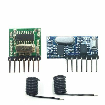 433Mhz Wireless RF Module 4 Channel Output Receiver and Transmitter EV1527 Code