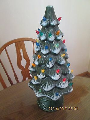 Christmas in JULY _ Tall Skinny Ceramic Christmas Tree Lighted