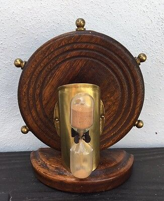 Unusual Wall Hanging Or Freestanding Vintage Nautical Egg Timer Approx 3.5 Mins