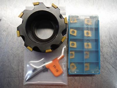"""Ingersoll 3"""" Indexable Facemill 6X2A03R04 Loaded With NEW Inserts +10 (LOC2214)"""