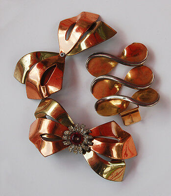 VINTAGE MIXED LOT METAL BOWS COPPER BRASS • 3.5 inches (F13)