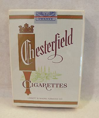 Vintage CHESTERFIELD Cigarettes Advertising Deck of Playing Cards Sealed