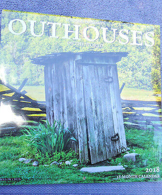 18-Month Calendar 2018 OUTHOUSES Of the World