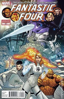 Fantastic Four #611 Marvel Comics 2012 Variant Billy Tan Cover Comic Final Issue
