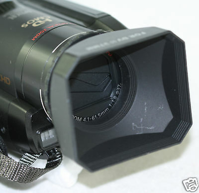 55mm Digital Video Lens Hood Sony FDR-AX40 FDR-AX53 camcorder shade AX53 AX40
