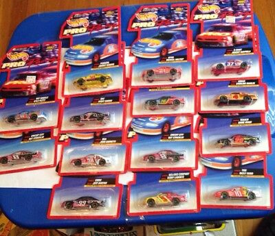 Vintage 1997 Hot Wheels 1/64 Die Cast Nascar Pro Racing 14 Different Cars