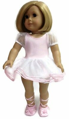 Pink Ballerina Dress & Slippers made for 18 inch American Girl Doll Clothes
