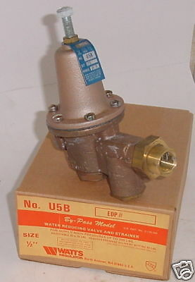 Watts U5B Water Pressure Valve and Strainer 1/2""