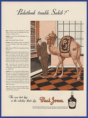 Vintage 1941 PAUL JONES Whiskey Alcohol Liquor Bar Restaurant Decor Print Ad