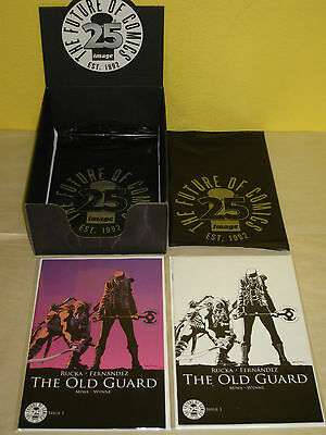 THE OLD GUARD #1 - 2 Rare Blind Box Variants - IMAGE 25th ANNIV Color B&W w/Bags