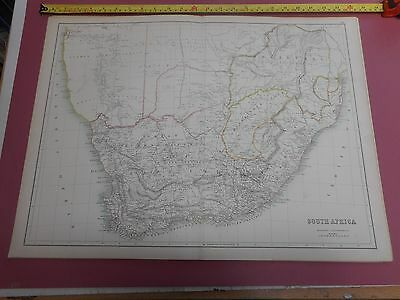 100% Original  Large South Africa  Map By Black C1880/s Vgc Low Postage