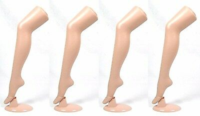 """Standing Female Mannequin Leg Sock and Hosiery Display Foot 30"""" Tall -4 Pack"""