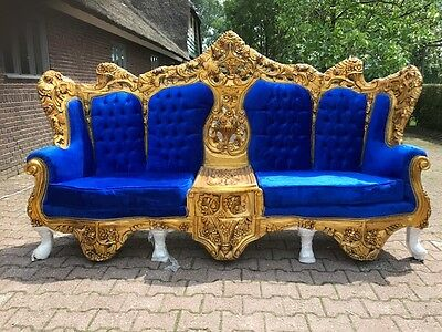 Antique Rococo Throne Sofa Italian Style