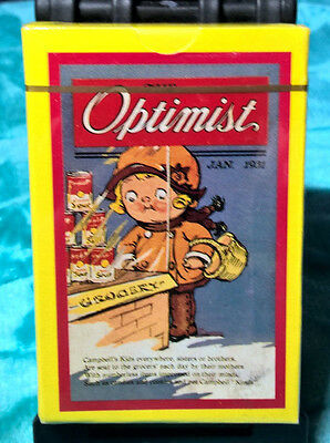 Campbell's ~ Optimist ~ Playing Cards ~ Bridge ~ New ~ Sealed ~ Campbell Kids A