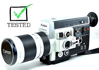 (WORKING) CANON 1014 AUTO 7-70 f 1.4 LENS SUPER 8 MOVIE CAMERA  See Video Embed