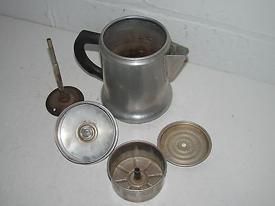 Vintage SEARS BEST Maid of Honor Aluminum 6 Cup Stove Top Camping Coffee Pot