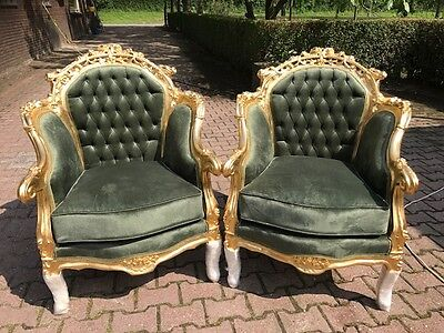 Antique Louis Xvi French Set Of 2 Chairs From About 1900