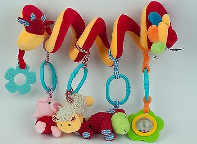 Soft Baby Activity Spiral Hanging Toy for Cots, Pushchairs, Car Seats
