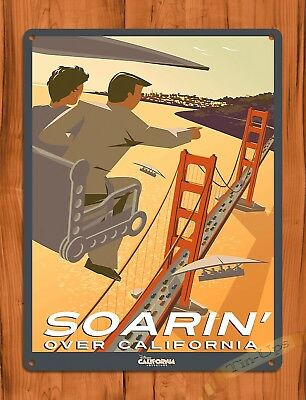 "TIN SIGN ""Disney's Soarin"" Movie Ride Art Poster Attraction California"