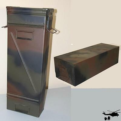 Original Bundeswehr chest in Camouflage Metal Box Metal Box Container Army Box