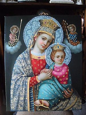 Our Lady of the Perpetual help oil painting on canvas virgin & child Religious