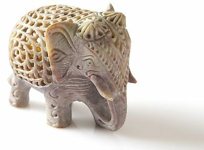 StarZebra Novelty Item - Nested White Elephant Figurines Handmade in Jali... NEW