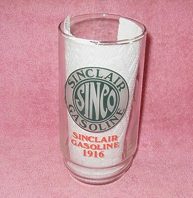 Sinclair Gasoline Red Green Advertising Drinking Glass Souvenier