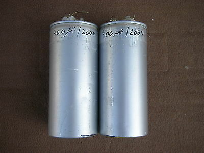 2x Rare MP Capacitors 100 µF / 200 V for FQ Crossover or Klangfilm amplifier