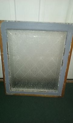 Vintage Antique Privacy Glass Snowflake Etched  Window