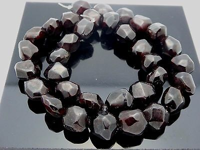 Natural Genuine Faceted Nugget Garnet Freeform Gemstone 42 Beads Strand 16""