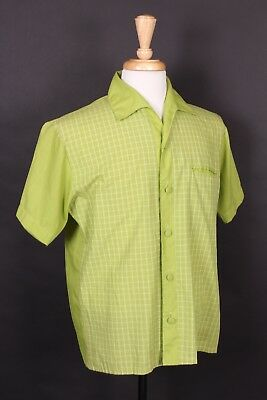 Vtg 60S Rockabilly Short Sleeve Shirt Usa Mens Size Medium
