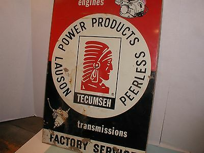 "Vintage "" Tecumseh "" Power Products Tin Flanged Sign"