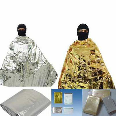 Foil Emergency Space Blanket Survival Thermal Rescue First Aid Gold 210*160cm