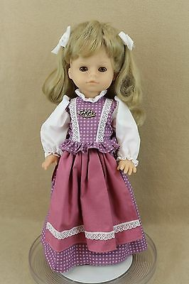 "19"" vinyl plastic sleepy eye German Gotz Puppe Collectible Girl Doll w hang tag"